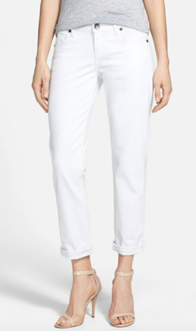 Catherine' Boyfriend Jeans (White) (Regular & Petite)