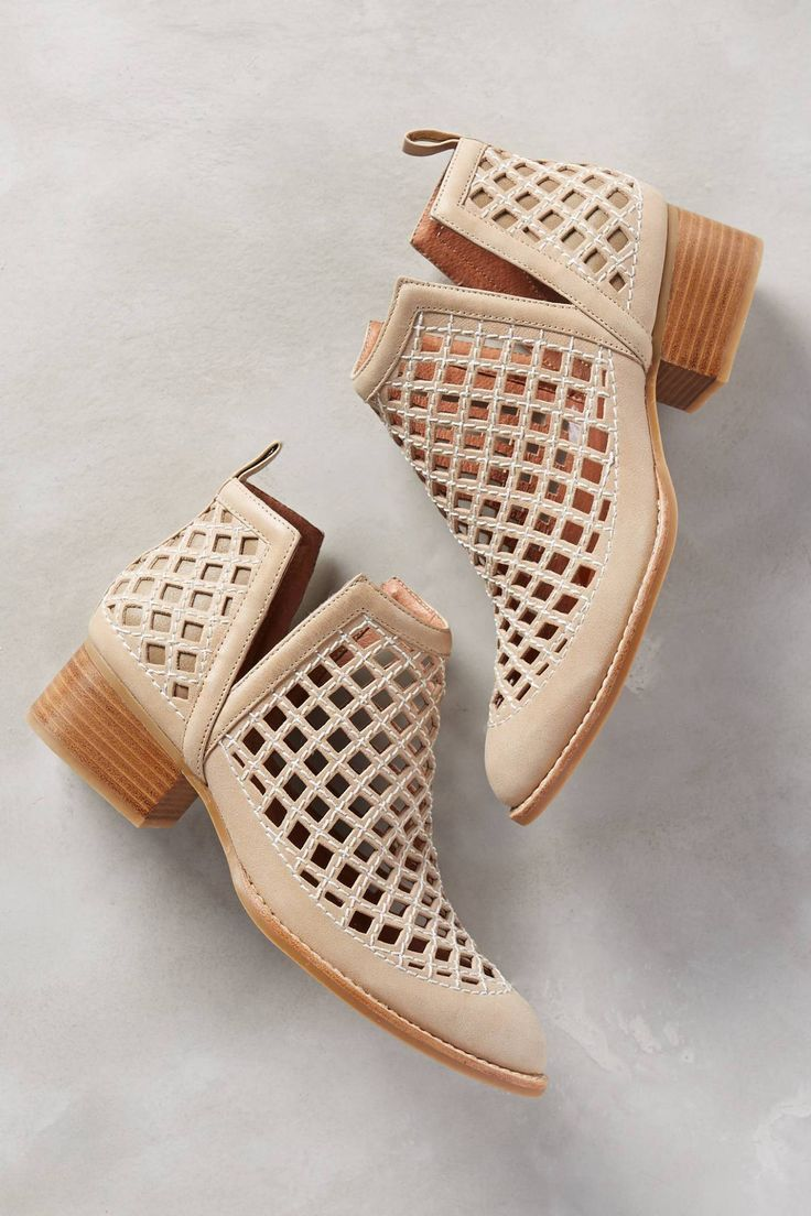 tan caged sandals