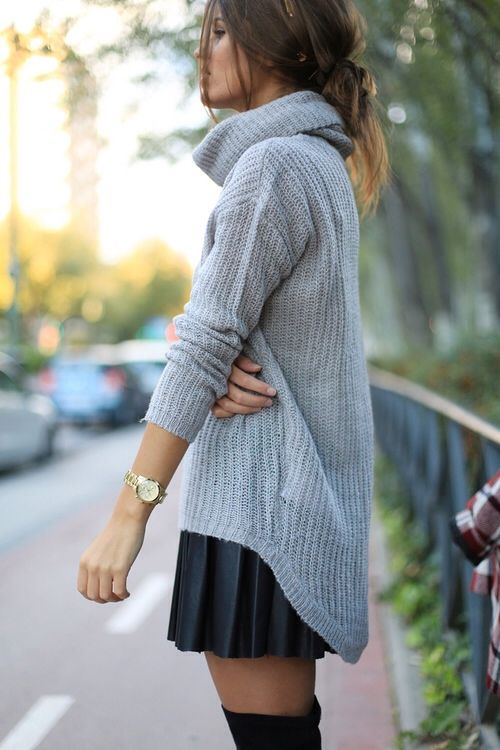 cowl neck and skirt