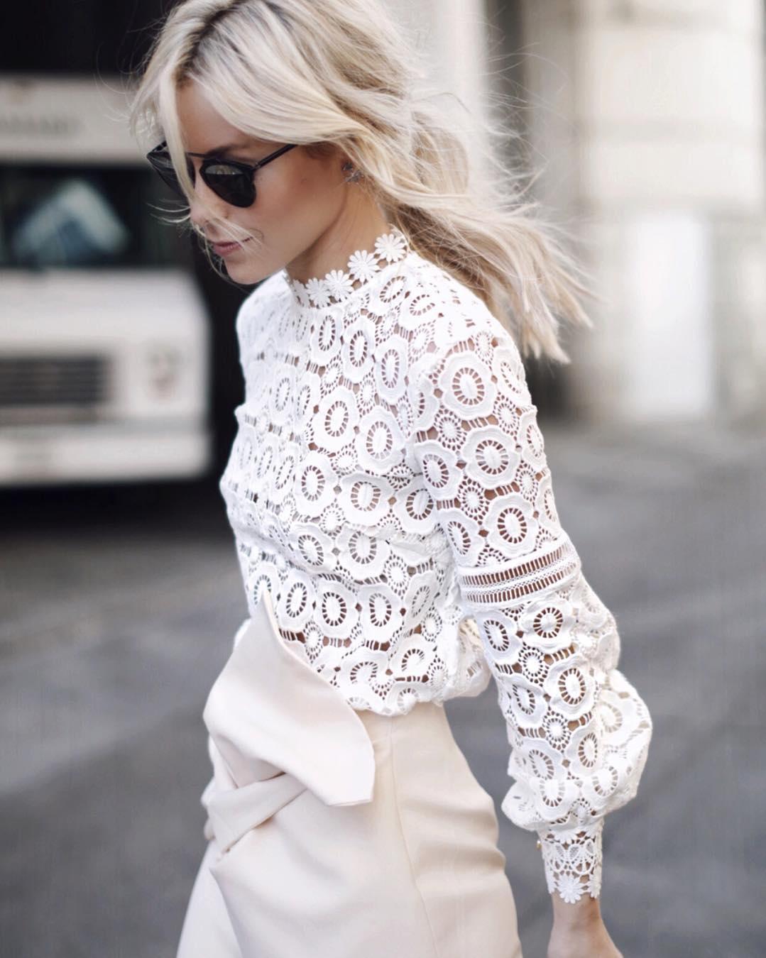 white on cream skirt