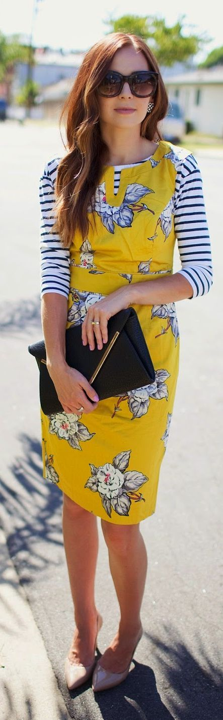 stripes on floral